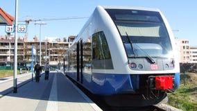 Enhet för multipel för grupp 646 diesel- i den Swinemunde stationen Royaltyfria Foton