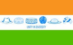 Enhet i mångfald av Indien royaltyfri illustrationer