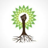 Enhethanden gör trädet Royaltyfria Bilder
