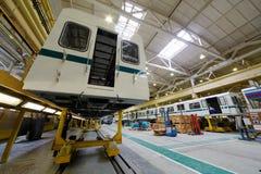 Enhetstunnelbanalagledare på vagn-stålar shoppar in Royaltyfria Bilder