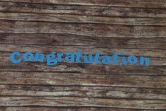 Enhorabuena Imagen de archivo libre de regalías