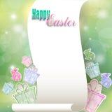 Enhorabuena al día de fiesta de Pascua Imagenes de archivo