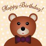Enhorabuena al niño del cumpleaños ilustración del vector