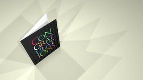 Enhorabuena de la tarjeta de felicitaciones stock de ilustración
