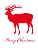 Enhorabuena de los ciervos del esquema con la Navidad Fotos de archivo libres de regalías