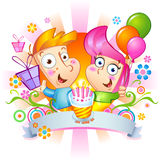 Enhorabuena del feliz cumpleaños foto de archivo libre de regalías