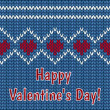 Enhorabuena el día de tarjeta del día de San Valentín en un fondo negro Fotos de archivo