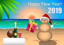 Enhorabuena en Feliz Año Nuevo libre illustration