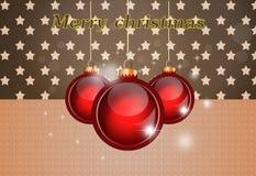 Enhorabuena en la Navidad stock de ilustración