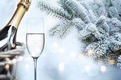 Enhorabuena hivernal por Año Nuevo Fotografía de archivo libre de regalías
