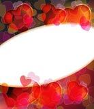 Enhorabuena por el día de tarjeta del día de San Valentín Foto de archivo