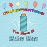 Enhorabuena recién nacida Foto de archivo libre de regalías