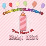 Enhorabuena recién nacida Imagenes de archivo