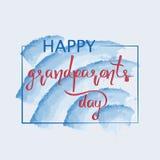 Enhorabuena y el día feliz de los abuelos de las palabras Imagenes de archivo