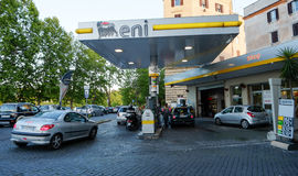ENI Agip Petrol Station in Rome Royalty Free Stock Photography