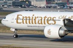 A6-ENI Emirate, Boeing 777-31HER Lizenzfreie Stockfotografie
