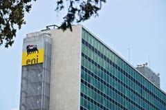 ENI-Hauptsitze, die in Rom Eur errichten stockbild