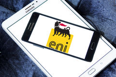 Eni oil campany logo Royalty Free Stock Images