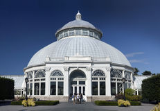 Enid A. Haupt Conservatory at Bronx Botanical Garden Stock Photos