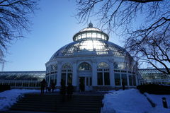 Enid A. Haupt Conservatory 11. The Enid A. Haupt Conservatory is a stunning example of Victorian-style glasshouse artistry, and a New York City Landmark. It is Royalty Free Stock Images
