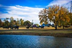 Enid, parc de l'Oklahoma images stock