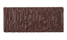 Enig die wafeltje in chocolade op witte achtergrond wordt geïsoleerd royalty-vrije stock foto
