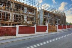 Enig familiehuis in aanbouw Royalty-vrije Stock Foto