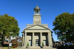 Enig första församlingkyrka, Quincy, Massachusetts Fotografering för Bildbyråer