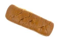 Enig geheel tarwe subbroodje op een witte achtergrond Royalty-vrije Stock Foto's