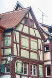 Enig half betimmerd huis in de Elzas Stock Foto