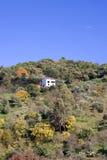 Enig huis aan de kant van een heuvel Stock Afbeelding