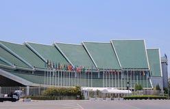 Enig nation Bangkok Thailand för modern arkitektur Arkivfoto