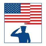 Enig påstådd flagga med militar officiell form vektor illustrationer