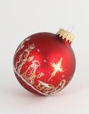 Enig Rood Ornament Royalty-vrije Stock Foto