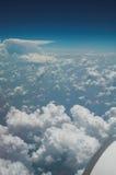 enig sikt för flyg- tillstånd Arkivfoton