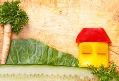 Enig skönhet av grönsaker Arkivfoto