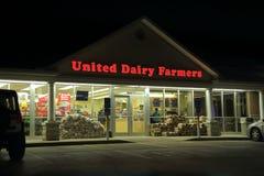 Enig skyltfönster för mejeribönder i Ohio, USA arkivbild