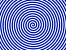 Enig van Hypno van de optische illusie Blauwe Witte Spiraalvormige vector illustratie