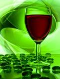 Enig wijnglas stock foto