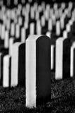 Eniga statliga Arlington kyrkogårdgravstenar royaltyfria foton