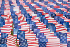 Eniga tillståndsflaggor för händelse 9-11 Royaltyfri Bild