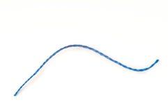 Enige blauwe draad Stock Foto