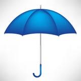 Enige blauwe paraplu Stock Afbeeldingen