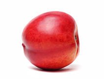 Enige geïsoleerdet nectarine Royalty-vrije Stock Afbeeldingen