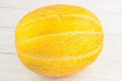 Enige gehele verse rijpe meloen royalty-vrije stock fotografie