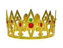Enige gouden kroon met gemmen royalty-vrije stock foto's