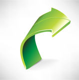 Enige groene pijl Stock Afbeelding