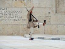 Enige hoog-stapt van Athene, wapen-opheft Wacht Stock Foto