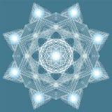 Enige Kerstmis Gloeiende Sneeuwvlok Krabbelbord vector illustratie