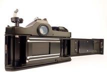 Enige lensreflex - de rug van de filmcamera royalty-vrije stock foto